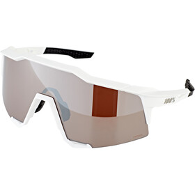 100% Speedcraft Occhiali alti, matte white hiper silver/HD multilayer/hiper
